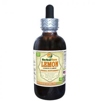 Lemon (Citrus x Limon) Tincture, Organic Dried Peel Liquid Extract