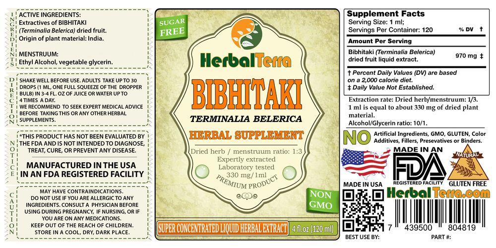 Bibhitaki, Caralluma Fimbriata (Terminalia Belerica) Dried Fruit Liquid Extract