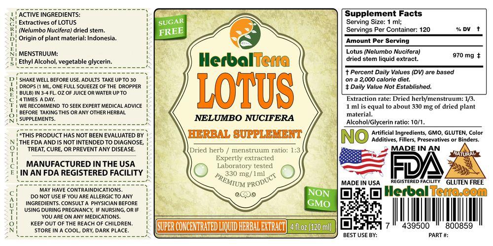 Lotus, Xi Xin (Nelumbo Nucifera) Dried Stem Liquid Extract