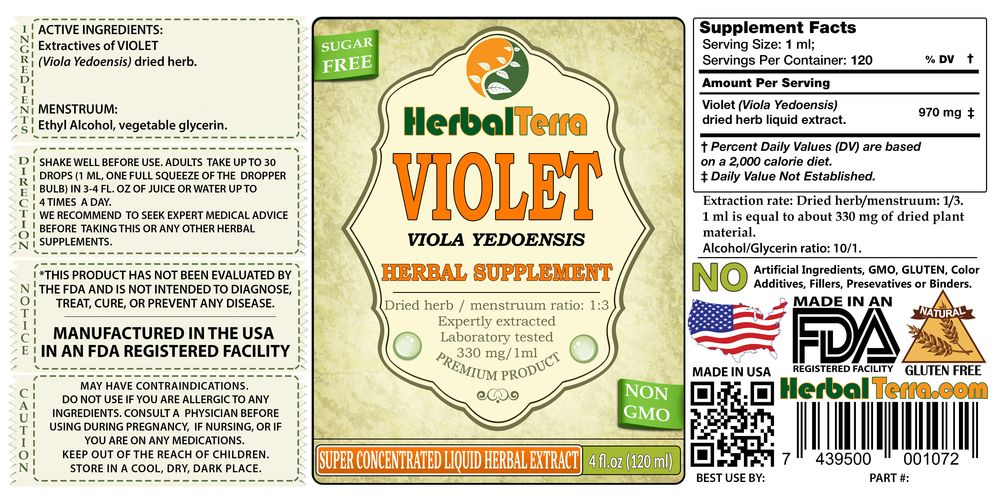 Violet (Viola Yedoensis) Dried Herb Liquid Extract
